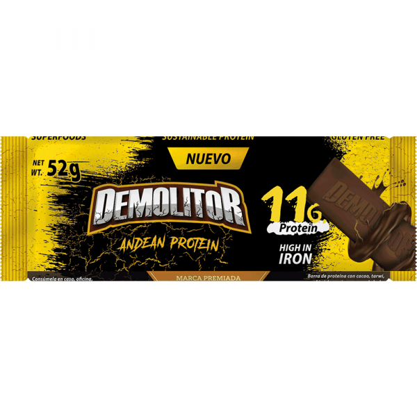 barra proteica energetica Demolitor andean protein tarwi quinua kiwicha fitness plant based granos andinos sustainable protein energy bar anemia