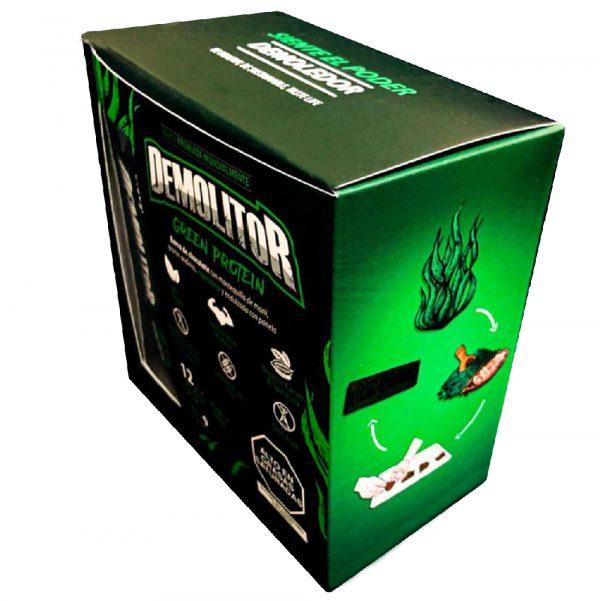 Demolitor-green-vegan-protein proteina sostenible espirulina barra proteica energetica demolitor plant based
