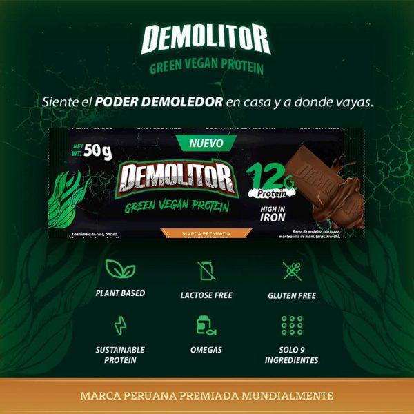 Demolitor-green-vegan-protein proteina sostenible espirulina barra proteica energetica demolitor plant based sustainable protein