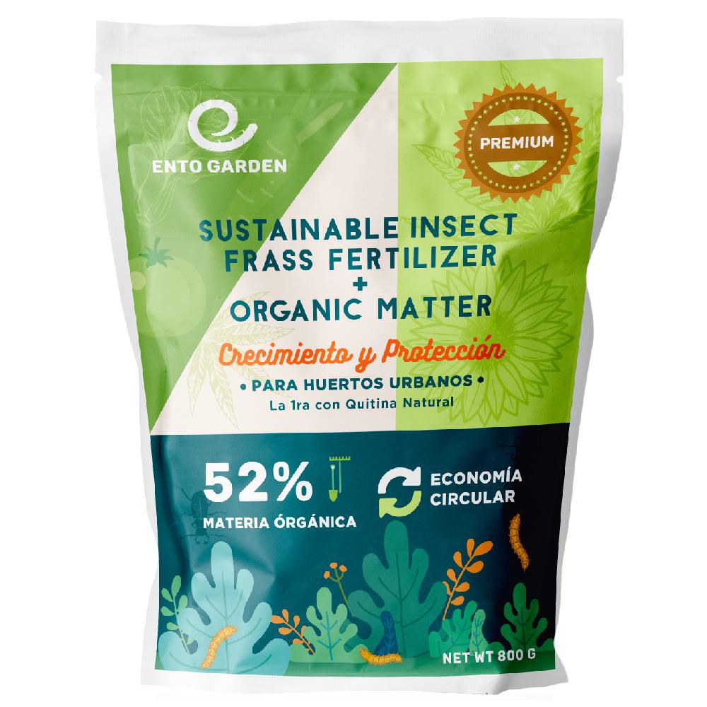 ento garden fertilizante organico quitina sustainable insect frass fertilizer chitin